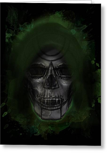 Creepy Digital Art Greeting Cards - Doom MD Greeting Card by Ian Barefoot