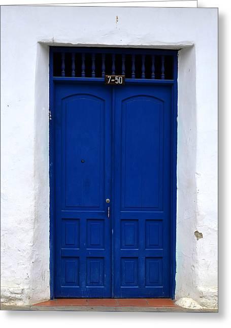 Entrance Door Pyrography Greeting Cards - Door # 11 Greeting Card by Axko Color de paraiso