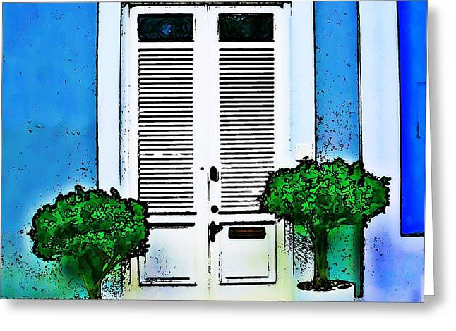 Door 61 Greeting Card by Perry Webster