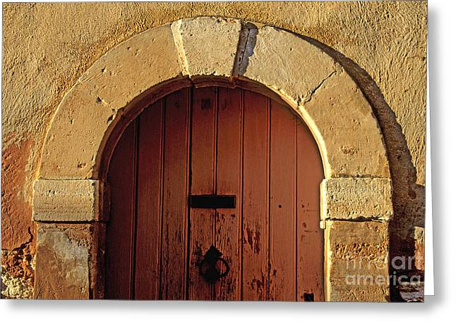 South Of France Photographs Greeting Cards - Door Greeting Card by Bernard Jaubert