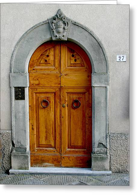 Sienna Italy Greeting Cards - Door in a Wall Greeting Card by Michael Riley