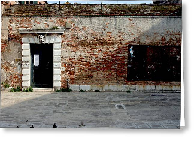 Sienna Italy Greeting Cards - Door in Wall Greeting Card by Michael Riley