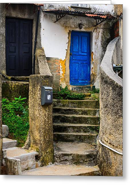 Wooden Stairs Greeting Cards - Door No 125 Greeting Card by Marco Oliveira