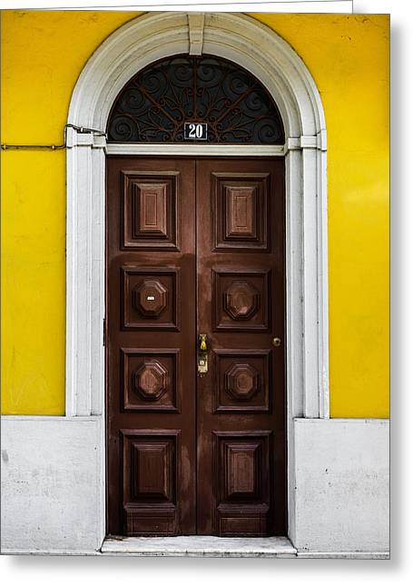 Old Door Greeting Cards - Door No 20 Greeting Card by Marco Oliveira