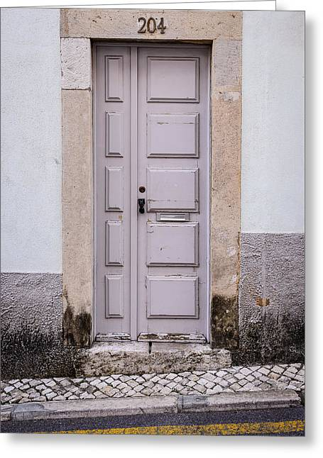 Door No 204 Greeting Card by Marco Oliveira