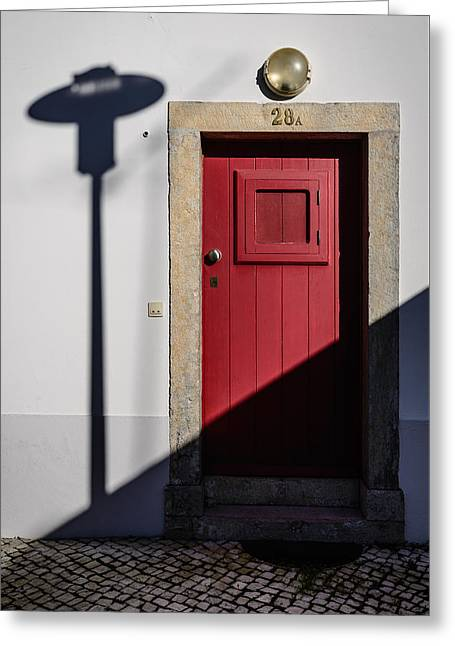 Door No 28a Greeting Card by Marco Oliveira