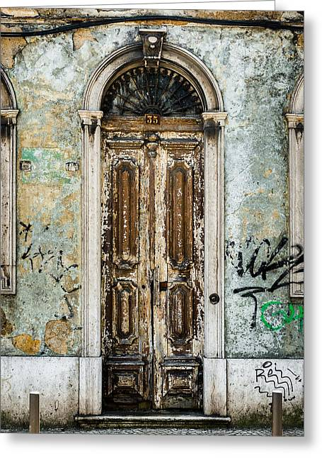 Entrance Door Greeting Cards - Door No 35 Greeting Card by Marco Oliveira