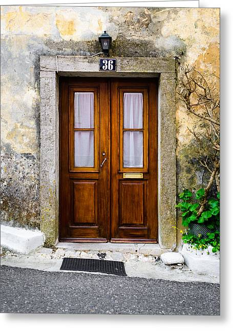 Old Door Greeting Cards - Door No 36 Greeting Card by Marco Oliveira