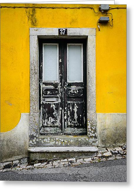 Wooden Building Greeting Cards - Door No 37 Greeting Card by Marco Oliveira