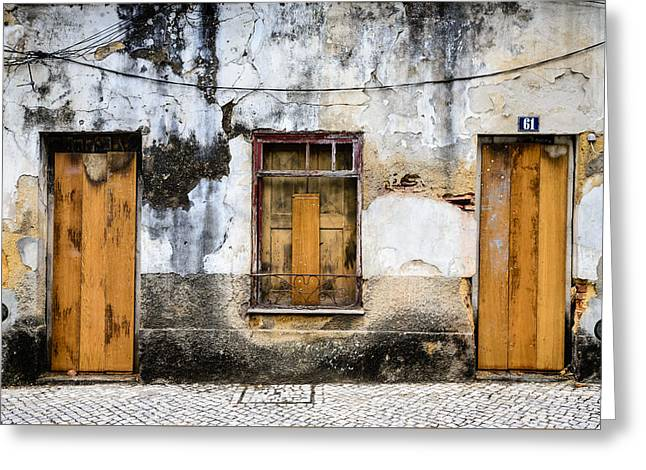 Door No 61 Greeting Card by Marco Oliveira