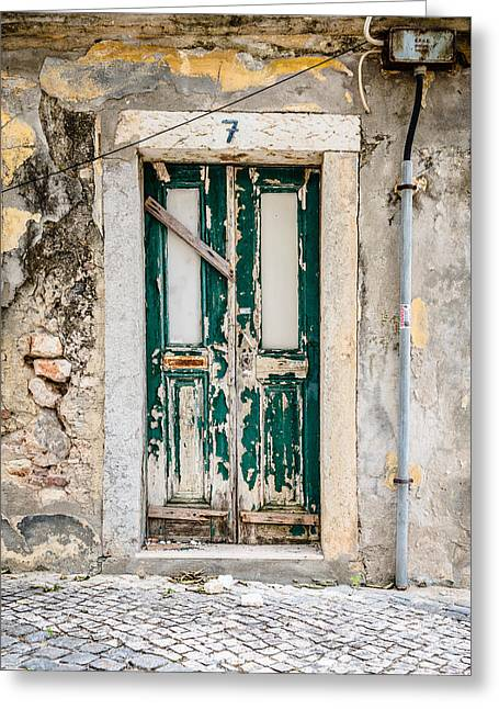 Entrance Door Greeting Cards - Door No 7 Greeting Card by Marco Oliveira