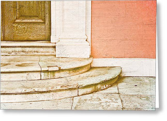 Door Steps Greeting Card by Tom Gowanlock