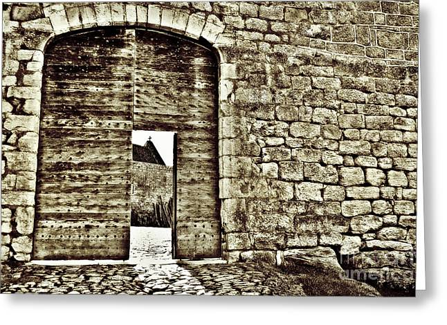 Chateau Greeting Cards - Door to Salvation Greeting Card by Paul Topp