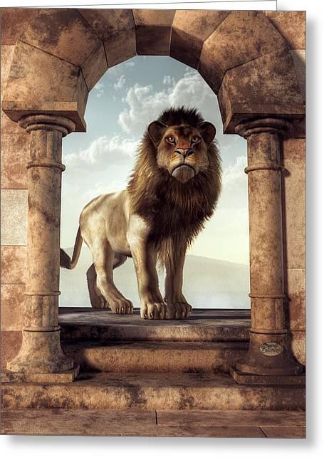 Door To The Lion's Kingdom Greeting Card by Daniel Eskridge