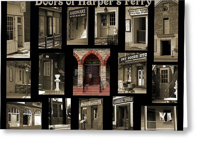 Entry-way Greeting Cards - Doors of Harpers Ferry Greeting Card by Judi Quelland