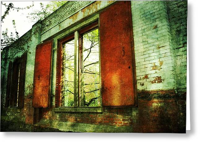 Urban Buildings Greeting Cards - Doors of Past Greeting Card by Cathie Tyler