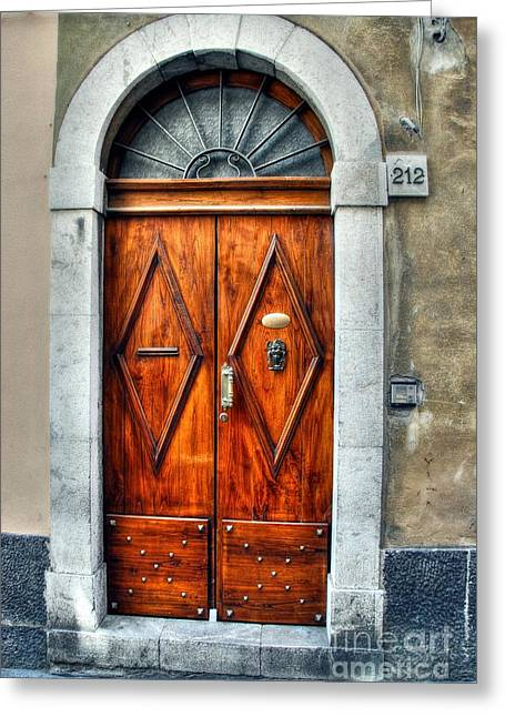 Doors Of Sicily Greeting Card by Mel Steinhauer