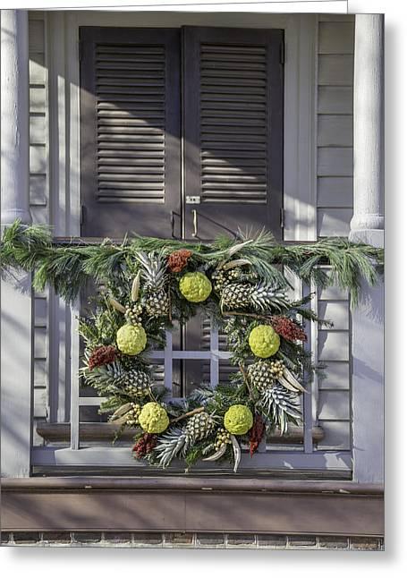 Carter House Greeting Cards - Doors of Williamsburg 44 Greeting Card by Teresa Mucha