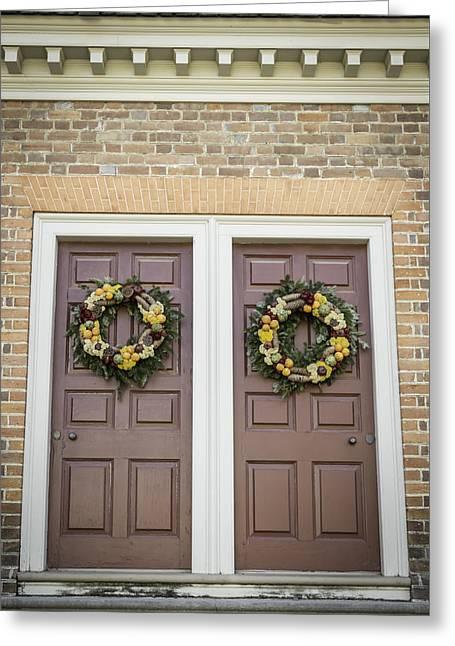 Carter House Greeting Cards - Doors of Williamsburg 59 Greeting Card by Teresa Mucha