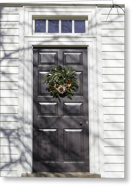 Doors Of Williamsburg 62 Greeting Card by Teresa Mucha