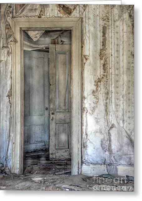 Foyer Greeting Cards - Doorway to Doors Greeting Card by Margie Hurwich