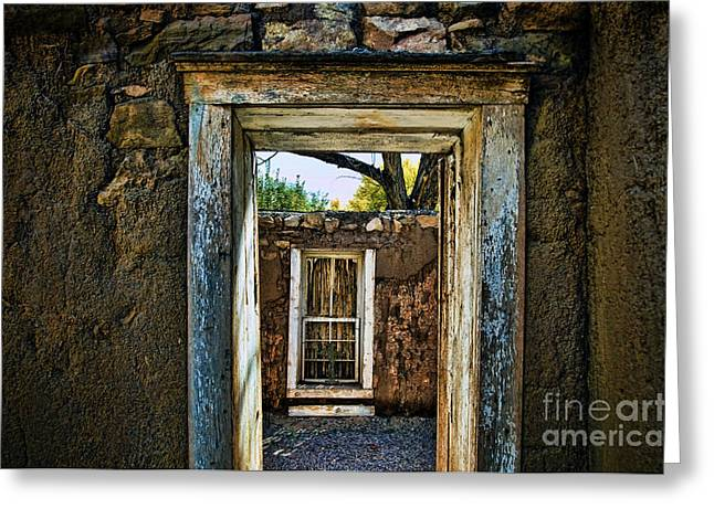 Adobe Greeting Cards - Doorway to Doorway Greeting Card by Ray Laskowitz - Printscapes