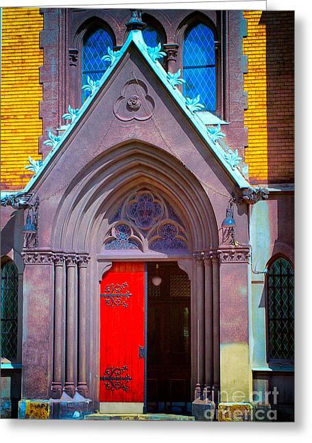 Doorway To Heaven Greeting Card by Mariola Bitner