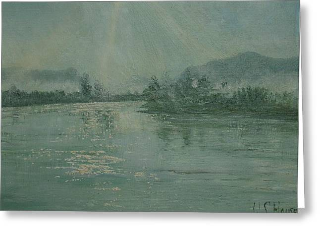 Portray Greeting Cards - Dordogne river en hiver Greeting Card by W S House