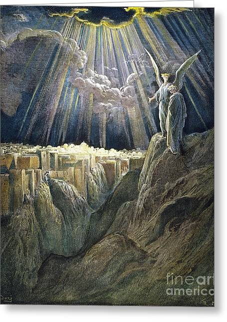 Dore Greeting Cards - Dore: New Jerusalem Greeting Card by Granger