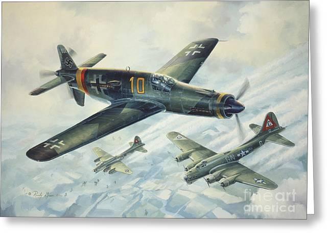 Air War Greeting Cards - Dornier Do335 Pfeil Arrow Greeting Card by Randy Green
