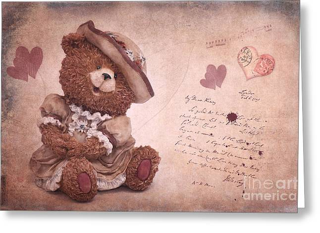 Love Letter Greeting Cards - Dorothy in love Greeting Card by Angela Doelling AD DESIGN Photo and PhotoArt