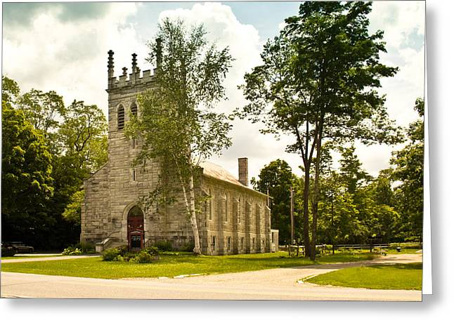 Dorset, Vermont Church Greeting Card by Lynne Albright