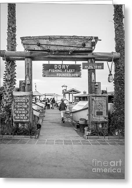 American Fleet Greeting Cards - Dory Fishing Fleet Picture in Newport Beach California Greeting Card by Paul Velgos