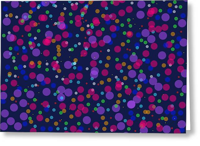 Cushion Greeting Cards - Dots for You Greeting Card by Lena Kouneva