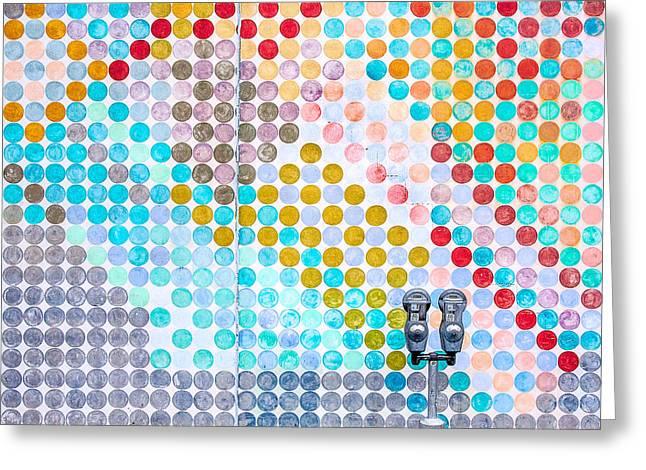 Dots, Many Colored Dots Greeting Card by Todd Klassy