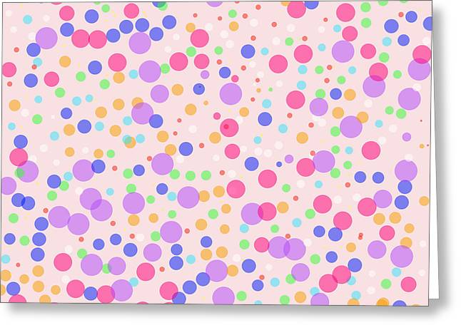 Abstract Digital Photographs Greeting Cards - Dots on Pink Background Greeting Card by Lena Kouneva