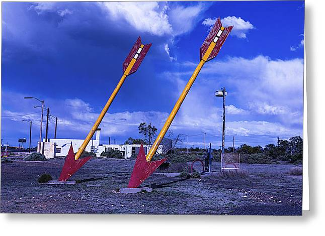 Large Photographs Greeting Cards - Double Arrows Greeting Card by Garry Gay