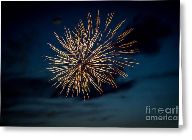 Double Explosion Greeting Card by Robert Bales