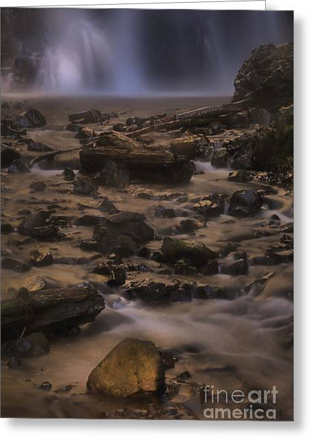 Double Falls Magic Greeting Card by Adam Jewell