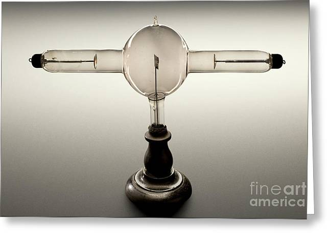 Double Focus X-ray Tube, 1896 Greeting Card by Wellcome Images