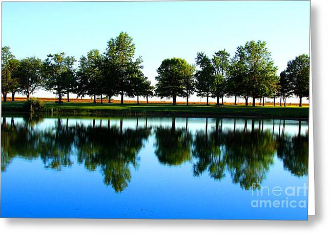 Central Illinois Greeting Cards - Double Horizon Greeting Card by Jessica Smith