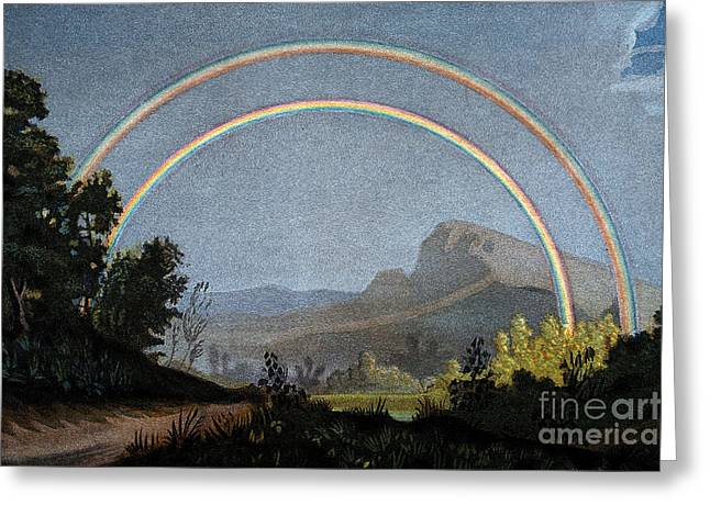 Double Rainbow, 1868 Greeting Card by Wellcome Images