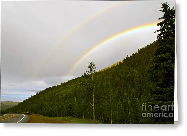 Double Rainbow Greeting Cards - Double Rainbow Greeting Card by Bianca Collins
