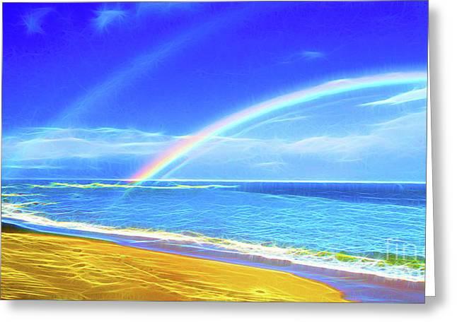 Double Rainbow  Greeting Card by Jerome Stumphauzer