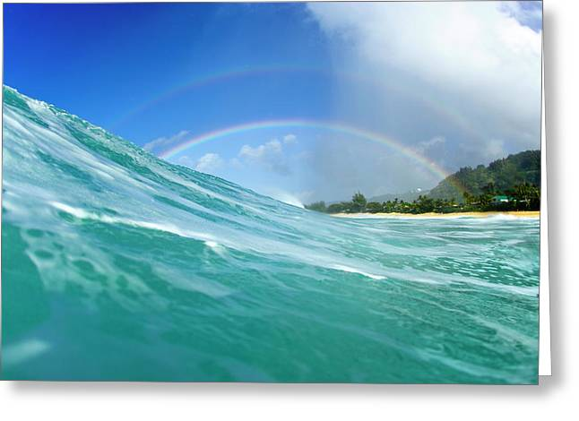 Double Rainbow Greeting Card by Sean Davey