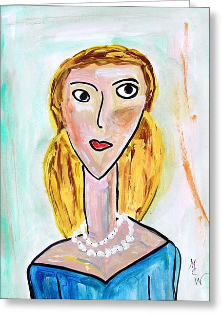 Bold Necklace Greeting Cards - Double Strand Greeting Card by Mary Carol Williams