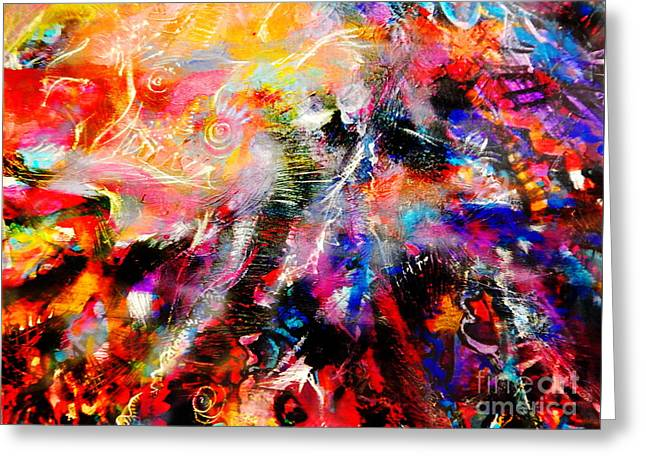 Color Enhanced Greeting Cards - Double sun Greeting Card by Expressionistar Priscilla-Batzell
