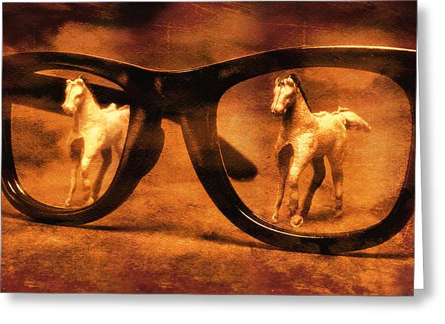 Double Vision Greeting Card by Jeff  Gettis