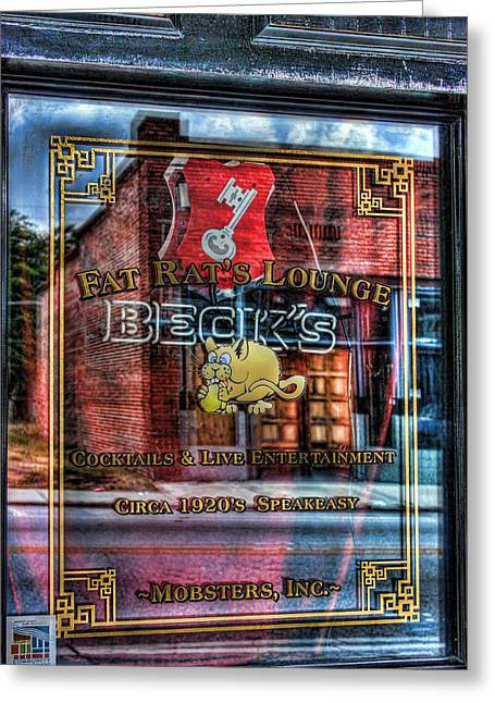 Barred Window Greeting Cards - Double Vision Greeting Card by Joetta West
