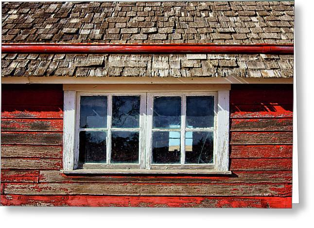 Double Window - Chicken Coop Greeting Card by Nikolyn McDonald
